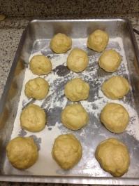 Bolinhas de massa de pão
