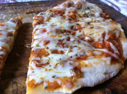 Pedaço de pizza caseira