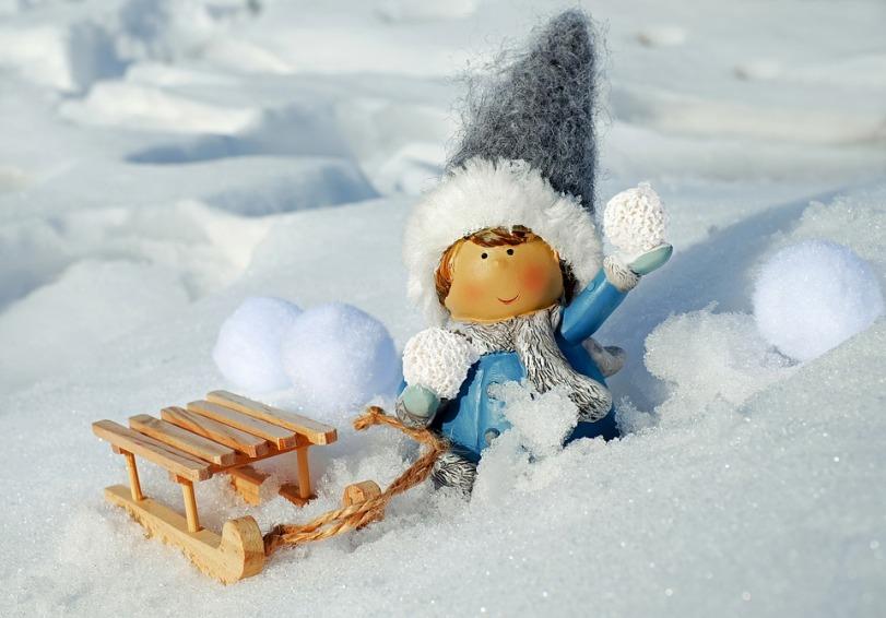 Bonequinha no inverno.